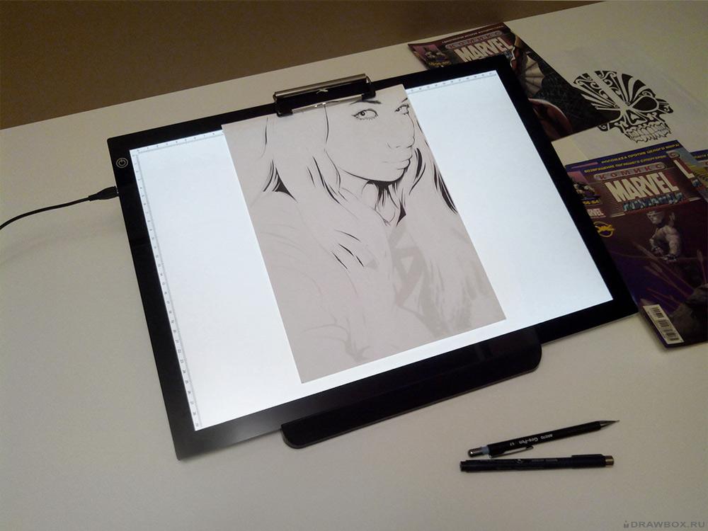 Световой планшет для рисования на просвет